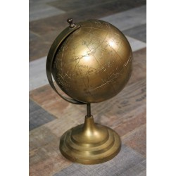 Globe terrestre cuivre années 60