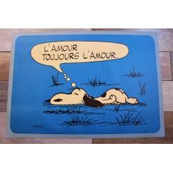 "Affiche ""Snoopy"" années 50"