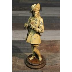 """Statue """"Mousquetaire"""" fin XIXème siècle"""