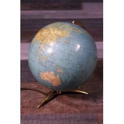 """Globe terrestre """"verre"""" Collomb années 50"""